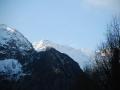 Winters uitzicht vanuit Auberge les Myrtilles
