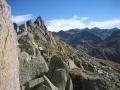 Uitzicht op een bergrug in de buurt van de refuge de Bassies