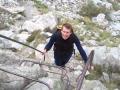 Trap in  het wandel rondje rond etang d'Aube