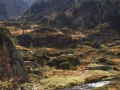 """Uitzicht boven de beroemde waterval """"Cascade d'Ars"""""""