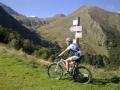 Met de mountainbike op col de Pause