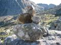 Steenmannetjes helpen bij het vinden van de juiste route