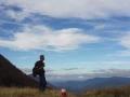 Even genieten van het uitzicht op de Pyreneeën